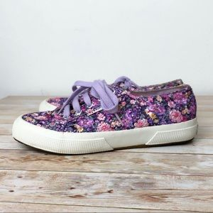 Superga Embroidered Floral Canvas Sneakers